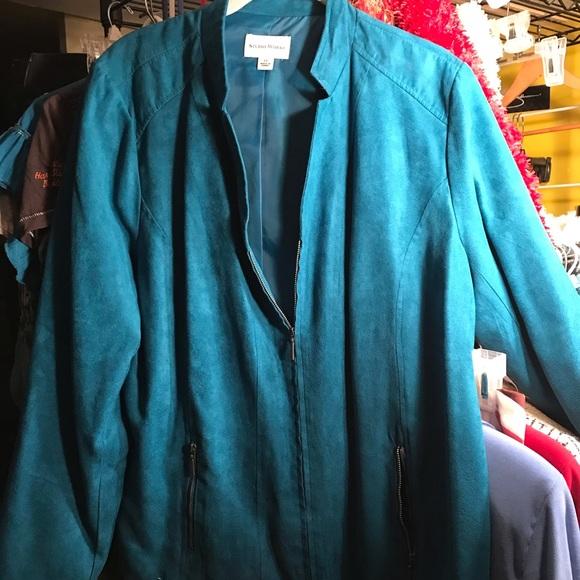 Studio Works Jackets & Blazers - **Pick 4 for $20 SALE*** turquoise zip up blazer